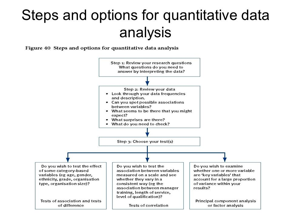 CHAPTER 10 Analysing quantitative data and formulating