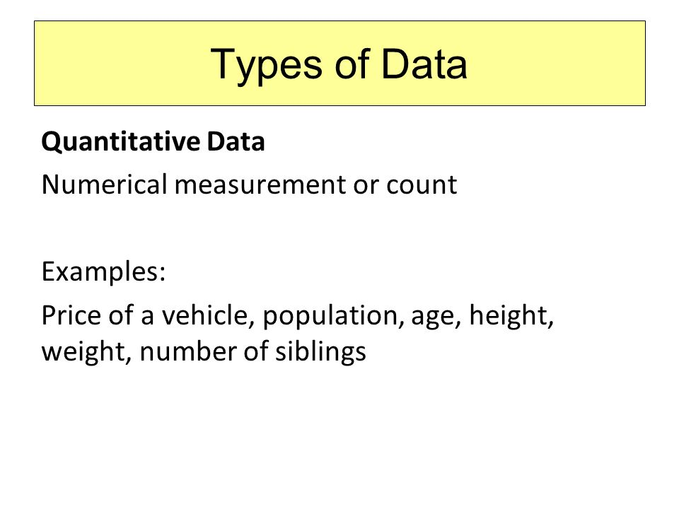 Statistics Section 1 2 Data Classification  Types of Data