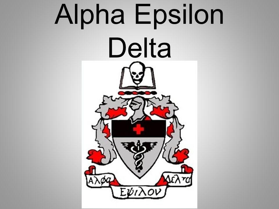 Alpha Epsilon Delta Welcome Alpha Epsilon Delta Aed 2 Nd Meeting