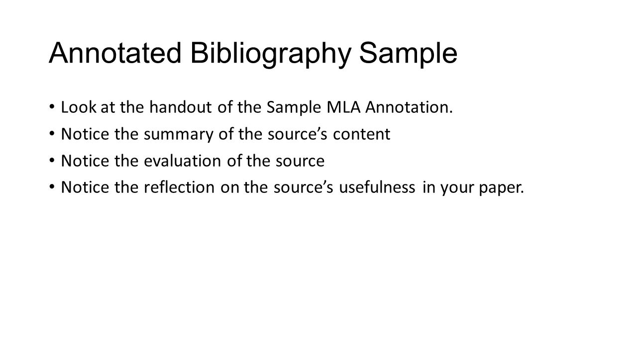 annotated bibloagraphy An annotated bibliography is a list of citations to books, articles, and documents each citation is followed by a brief (usually about 150 words) descriptive and evaluative paragraph, the annotation.