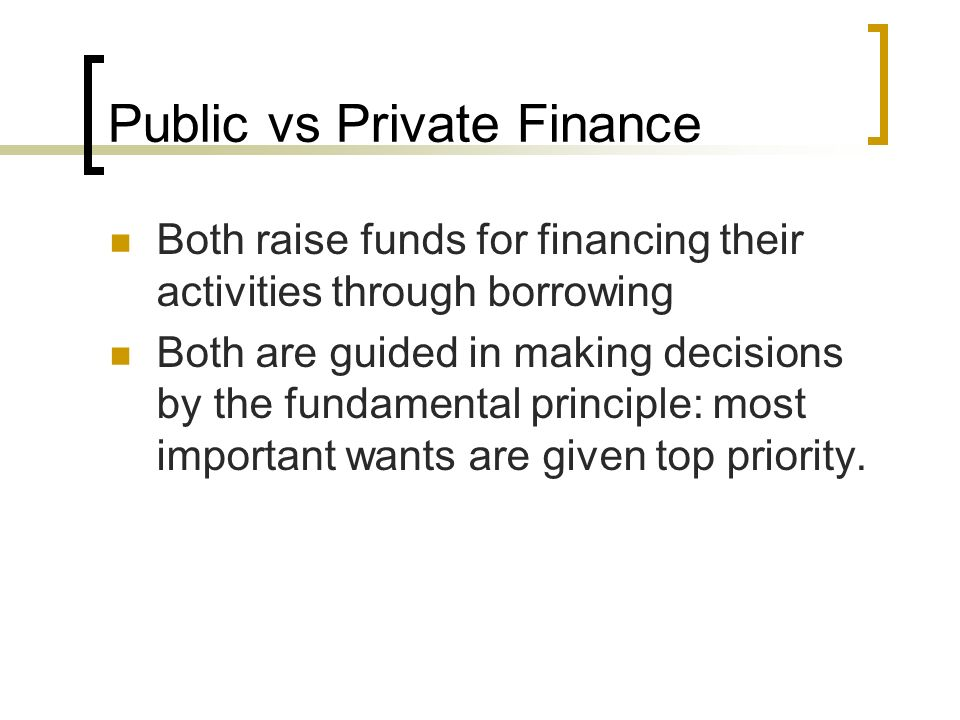 what is the meaning of public finance