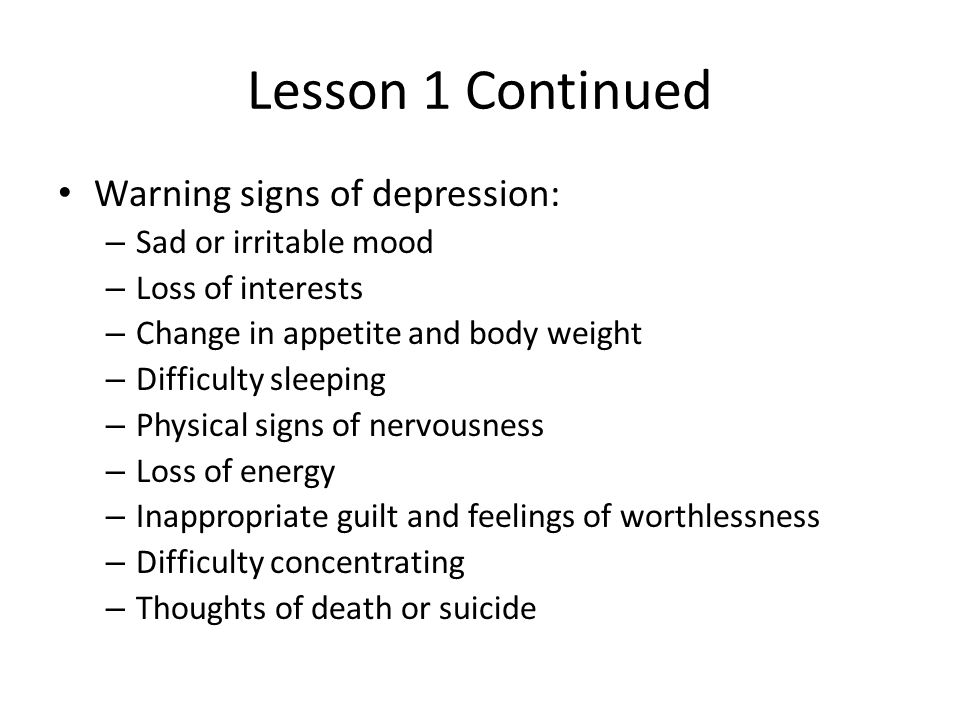 Chapter 5 Mental and Emotional Problems  Lesson 1 Anxiety and