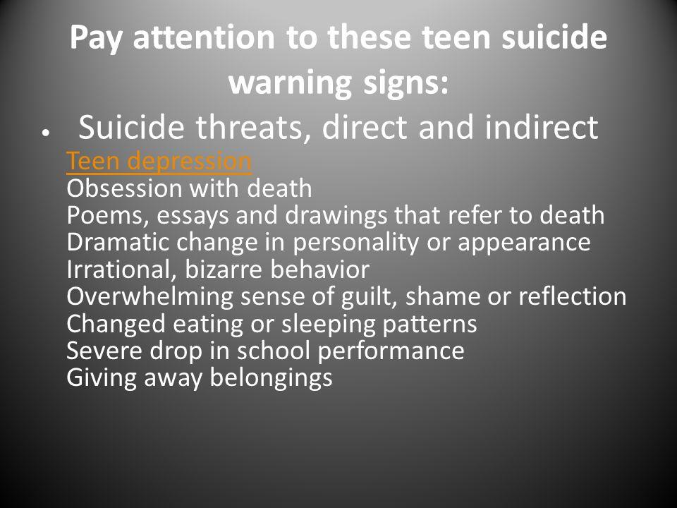 causes of teenage suicide essay
