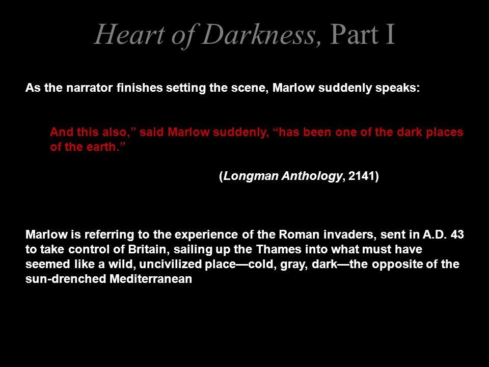 setting of heart of darkness by joseph conrad