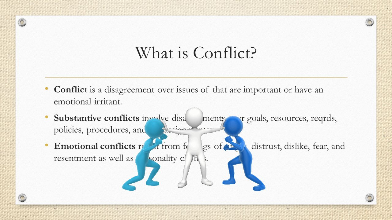 What is conflict 18