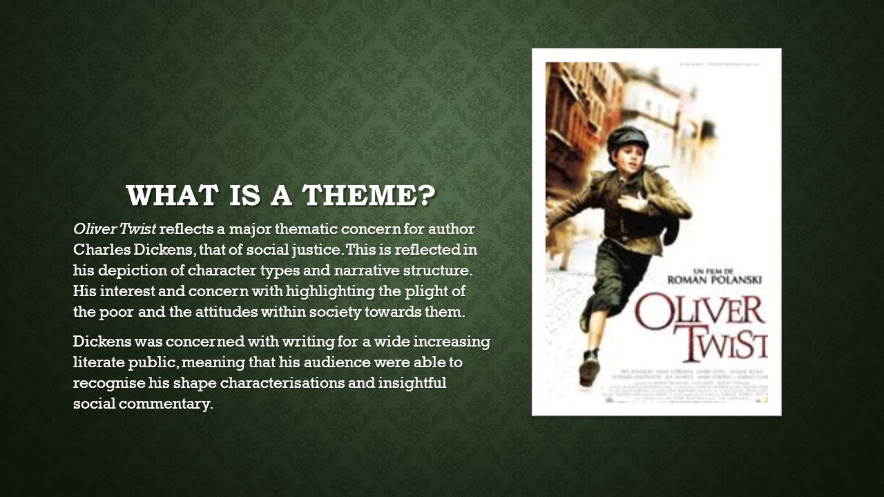 what is the main theme of oliver twist