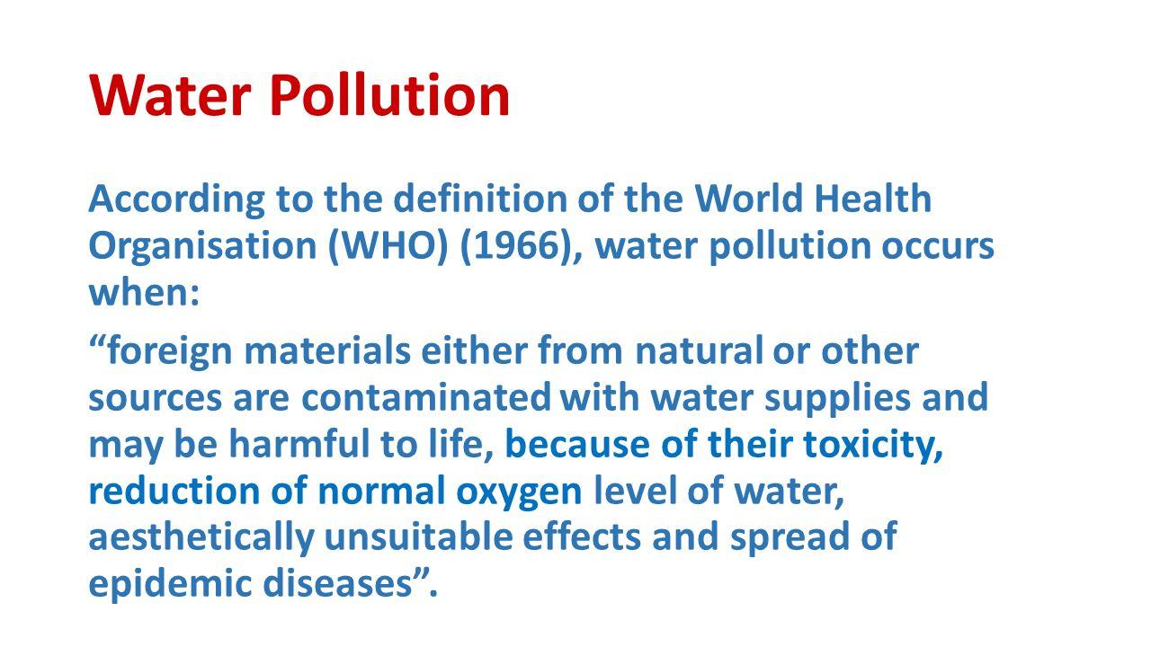 water pollution dr. sireen alkhaldi/ community medicine. - ppt download