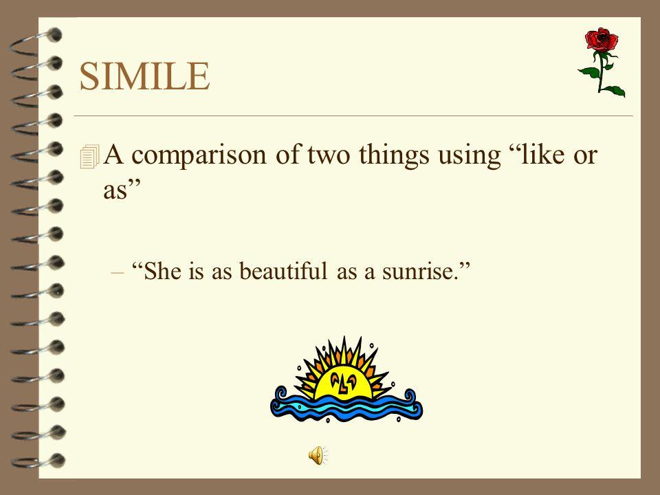 beautiful similes