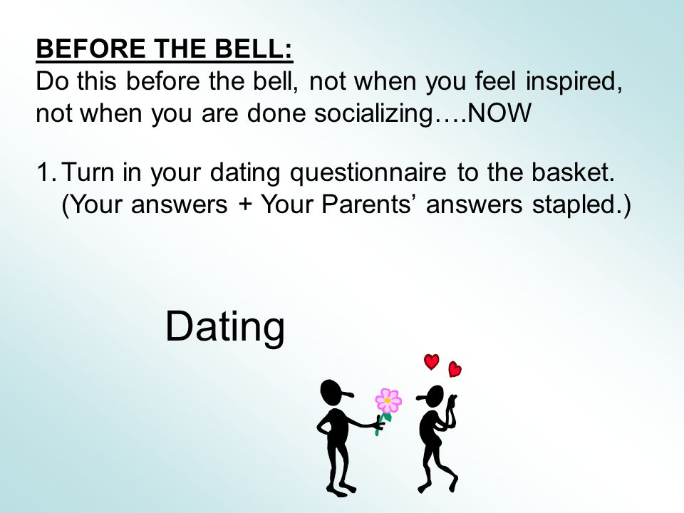 Dating questionnaire