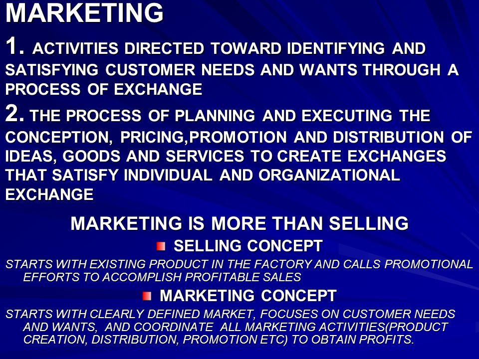 satisfying customer needs and wants