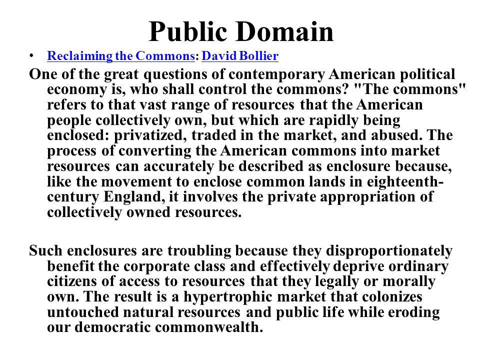 Public Domain Reclaiming