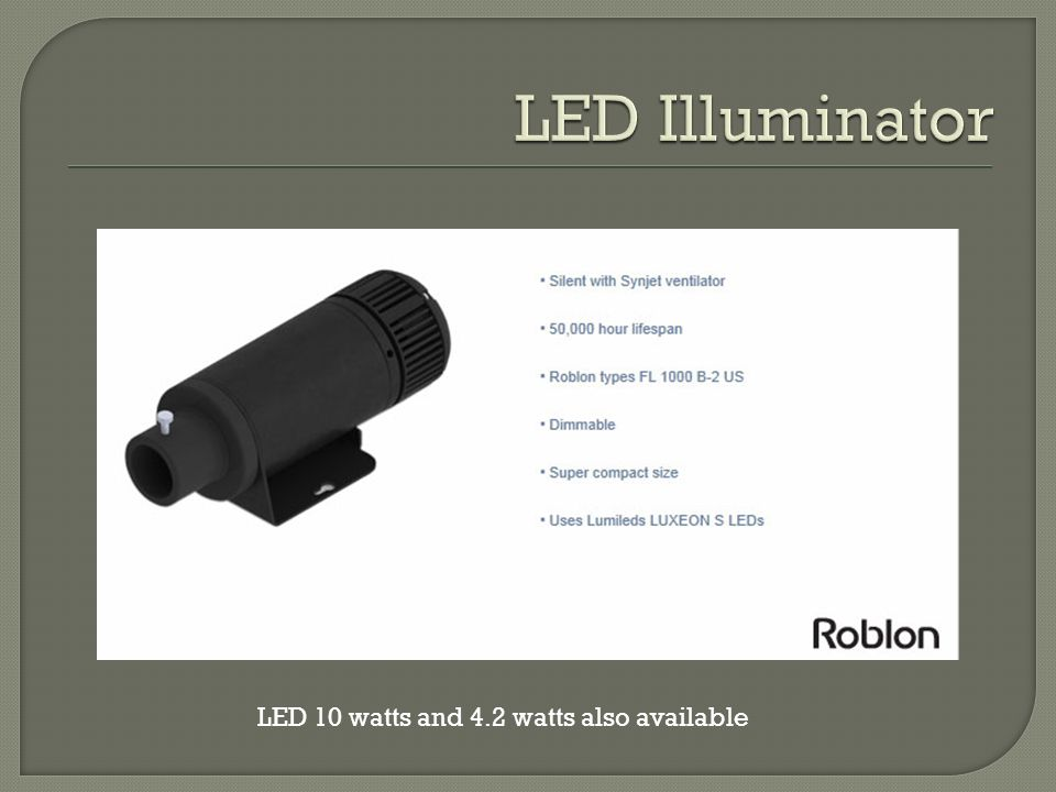 5 LED 10 Watts And 4.2 Watts Also Available
