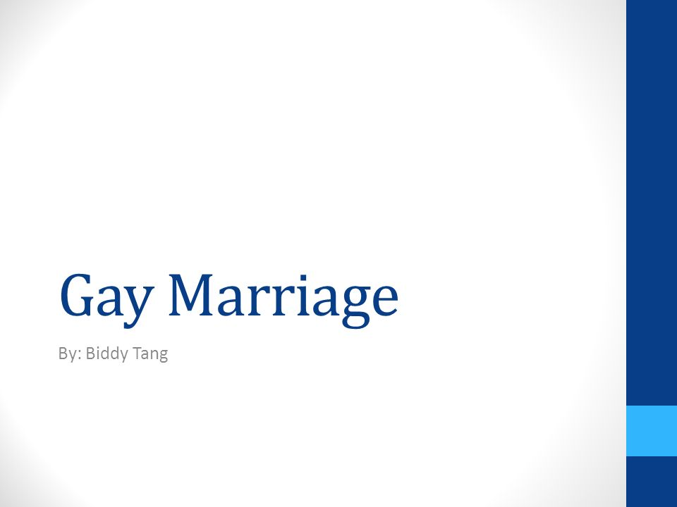 1 Gay Marriage By Biddy Tang