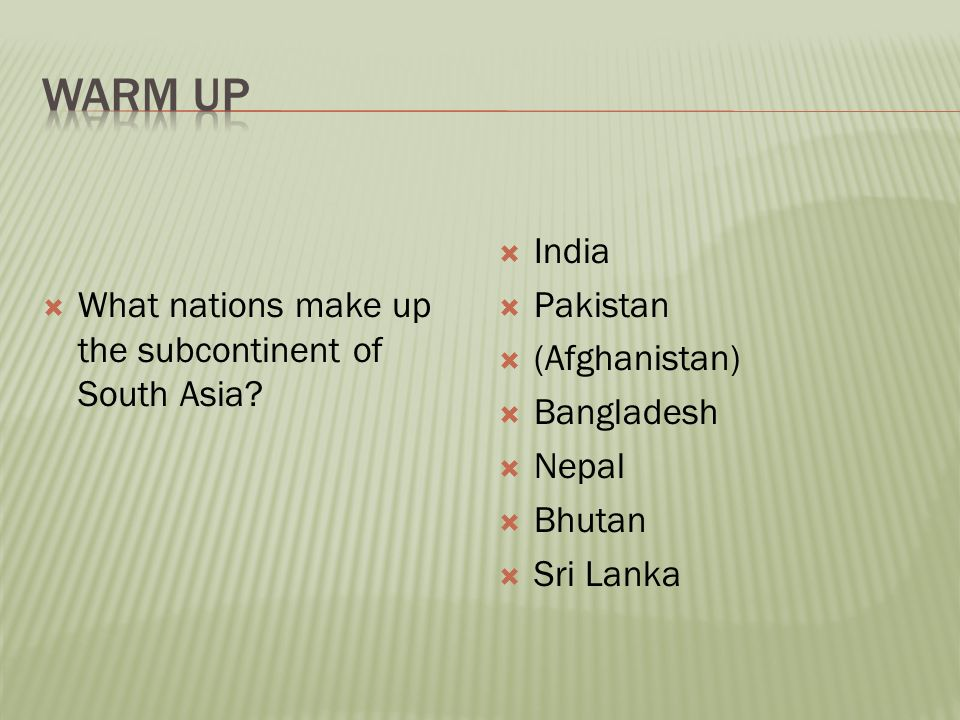 India Lesson 1 Identify Key Landforms And Resources Locate