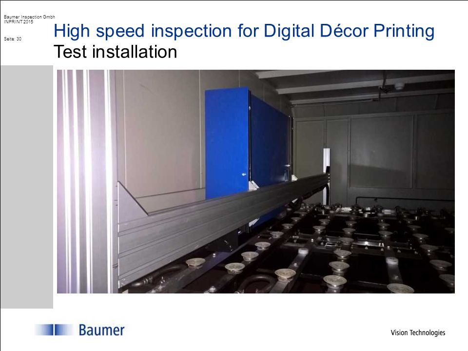 ColourBrain® High speed inspection of digital printed decor