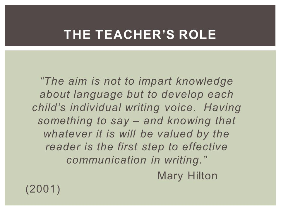 Week 0 Pgce Models Of Writing To Consider The Purpose And