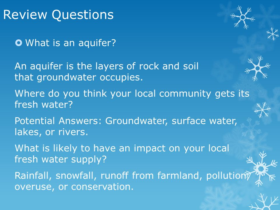 Where Is Fresh Water Found Chapter 7 Lesson 2 Learning Target. Review Questions What Is An Aquifer. Worksheet. Worksheet 2 Groundwater Vocabulary Quiz At Clickcart.co