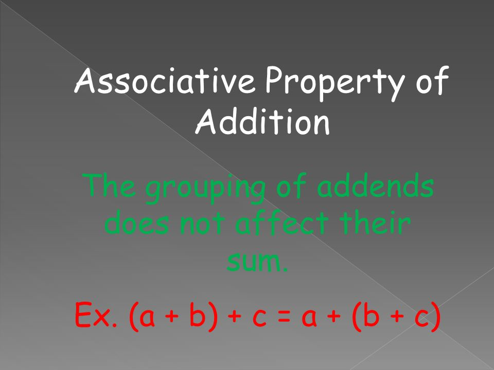 Remember: Commutative Property of Addition Changing the order of addends does not change their sum.