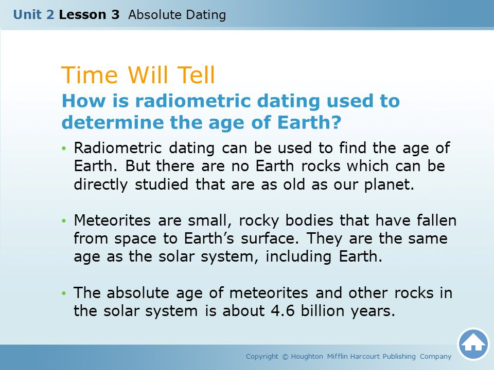 radiometric dating earth