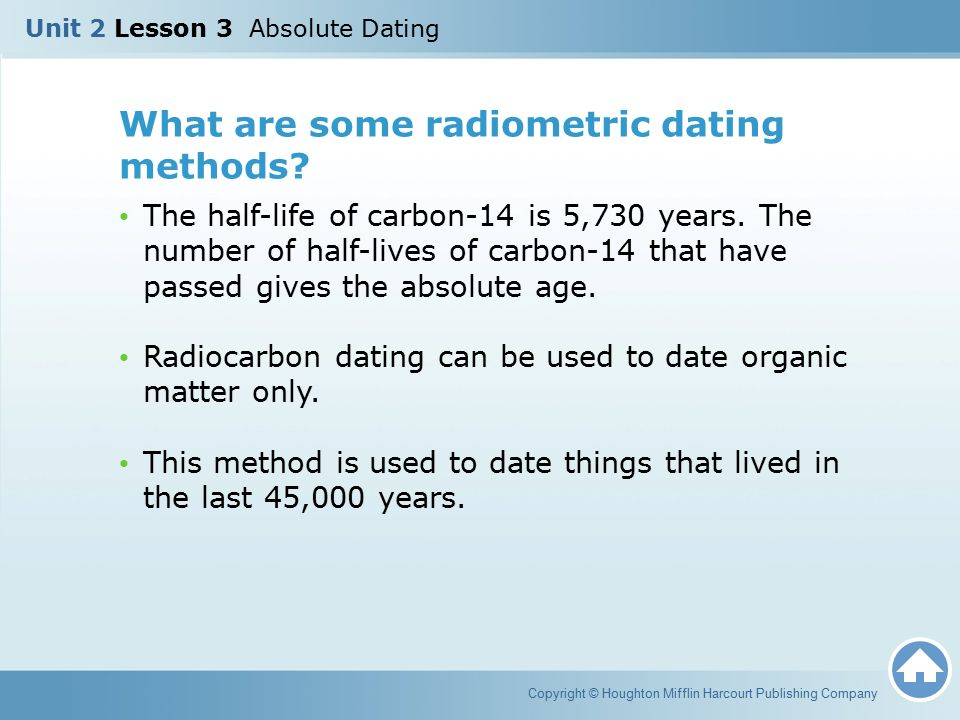 carbon dating slides