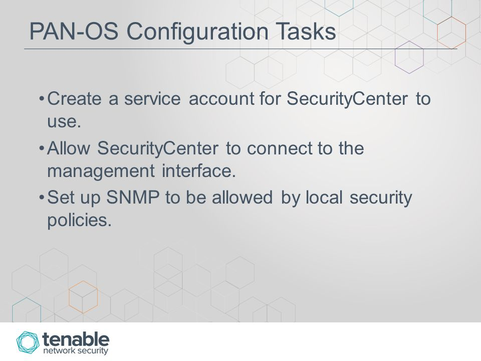 SecurityCenter & Palo Alto Configuration Guide  About this
