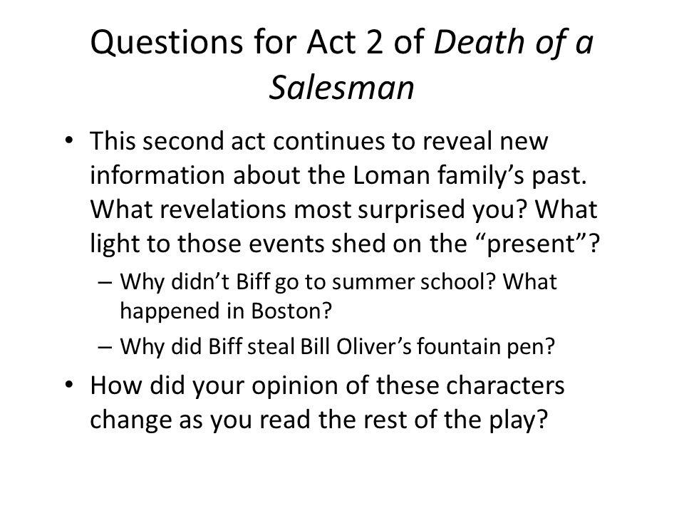 death of a salesman socratic seminar questions
