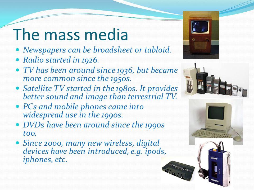 Mass media and technology