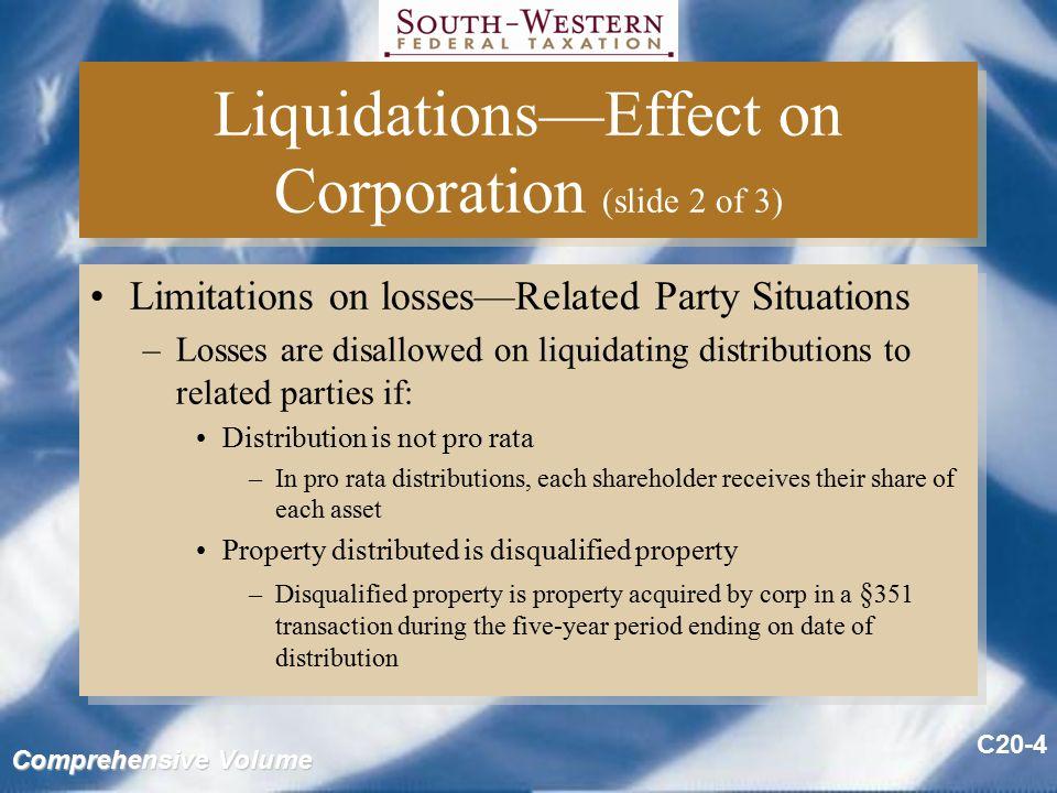Non liquidating distribution s corporation bankruptcy