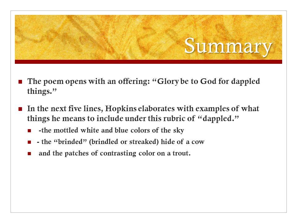 spring gerard manley hopkins summary