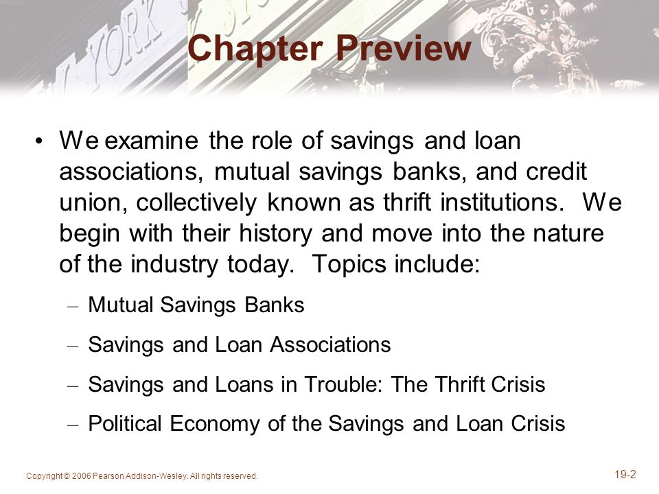 savings and loans crisis essay The recent financial crisis is most commonly attributed towards the house loans/mortgage market and the credit crunch causes of financial crisis according to marxian school of thought the fall in the rate of profit from about 22% to 12% caused the twin evil of high unemployment and inflation (moseley.