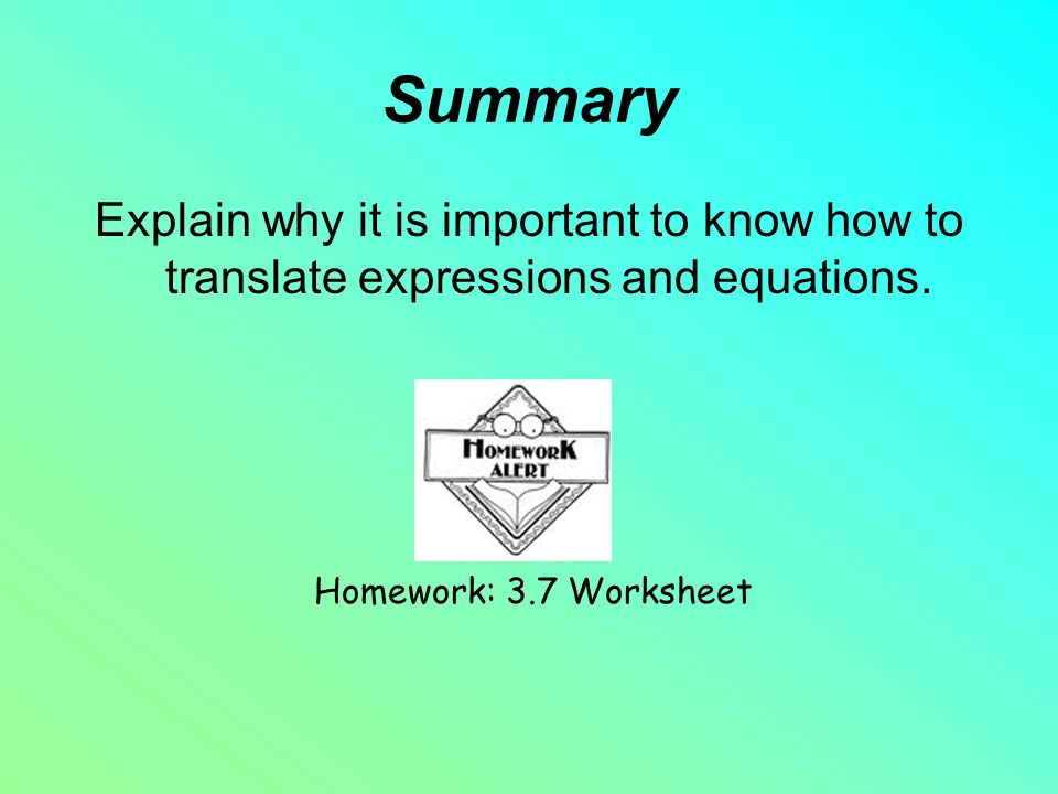 Year 1 Warm Up Translate The Following Expressions Into Either