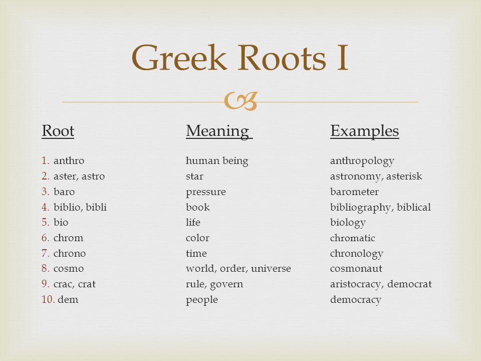 Rootmeaning Examples 1throhuman Beinganthropology 2ter