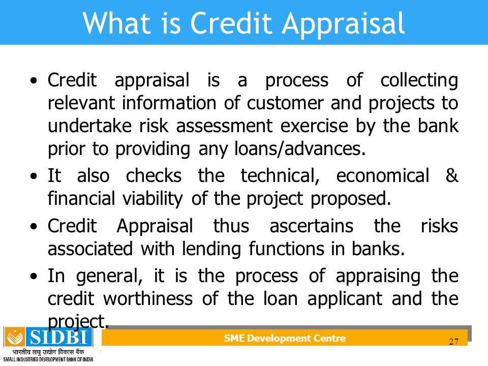 credit appraisal process in banks