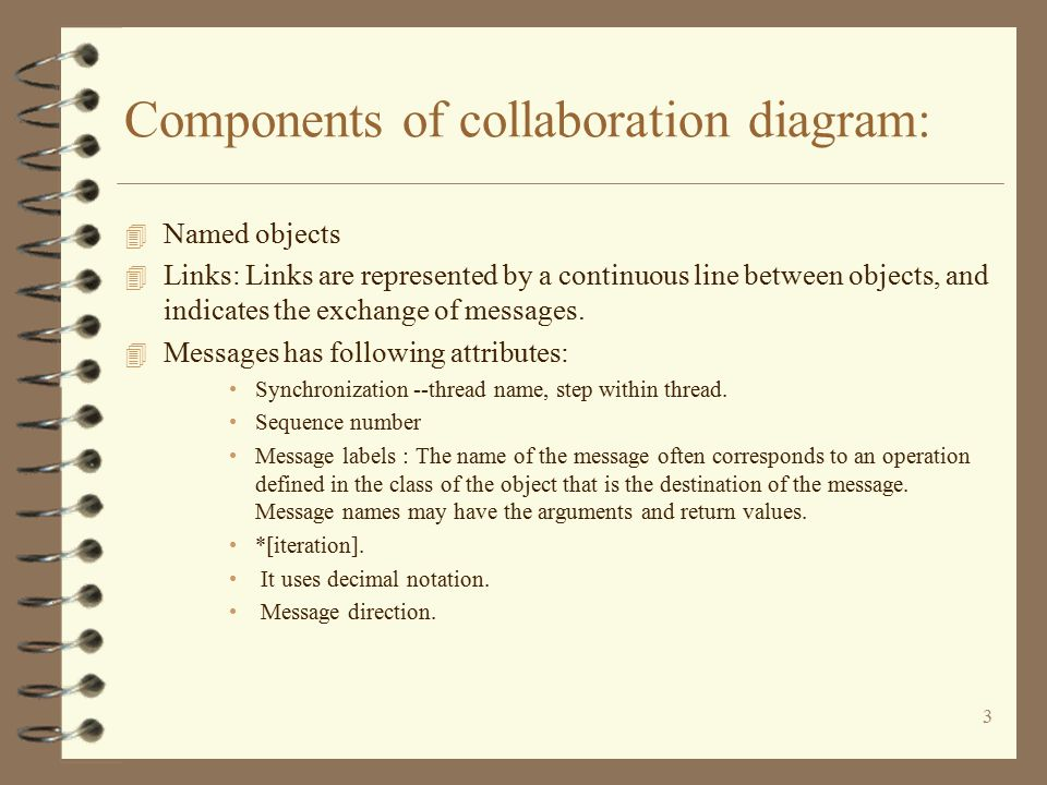 1 lab what is collaboration diagram 4 collaboration diagrams 3 components of collaboration diagram 4 named objects 4 links links are represented by ccuart Choice Image