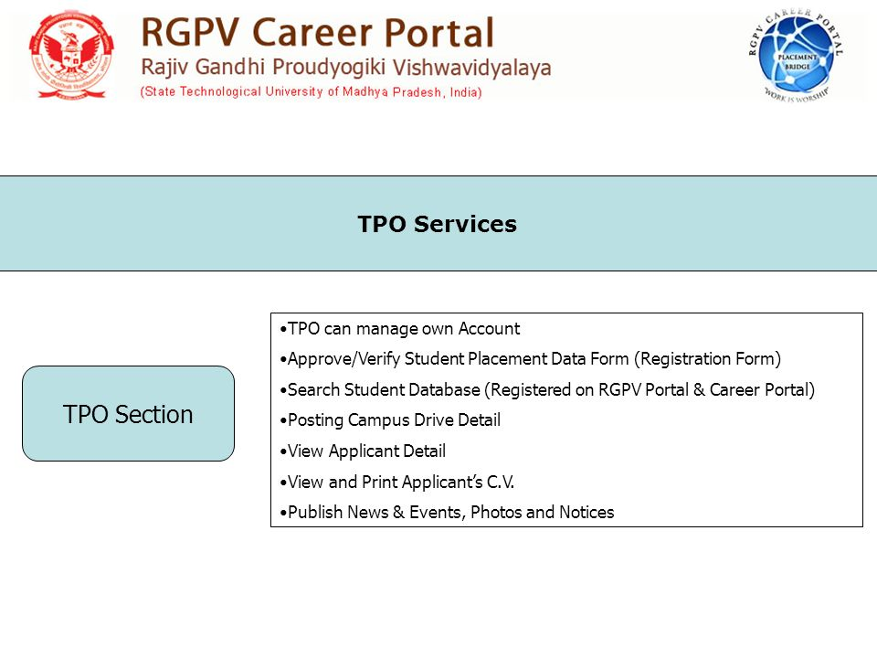 TPO Section TPO can manage own Account Approve/Verify