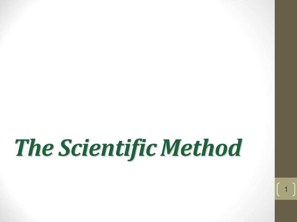 The Scientific Method 1  Theory vs Hypothesis Theory