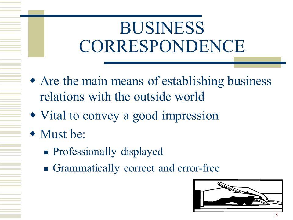 1 Business Correspondence Essential Parts Content Language