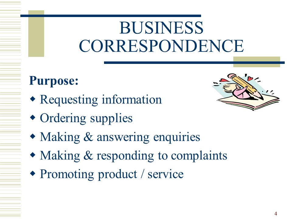 1 Business Correspondence Essential Parts Content Language Types Of Business Letters Ppt Download