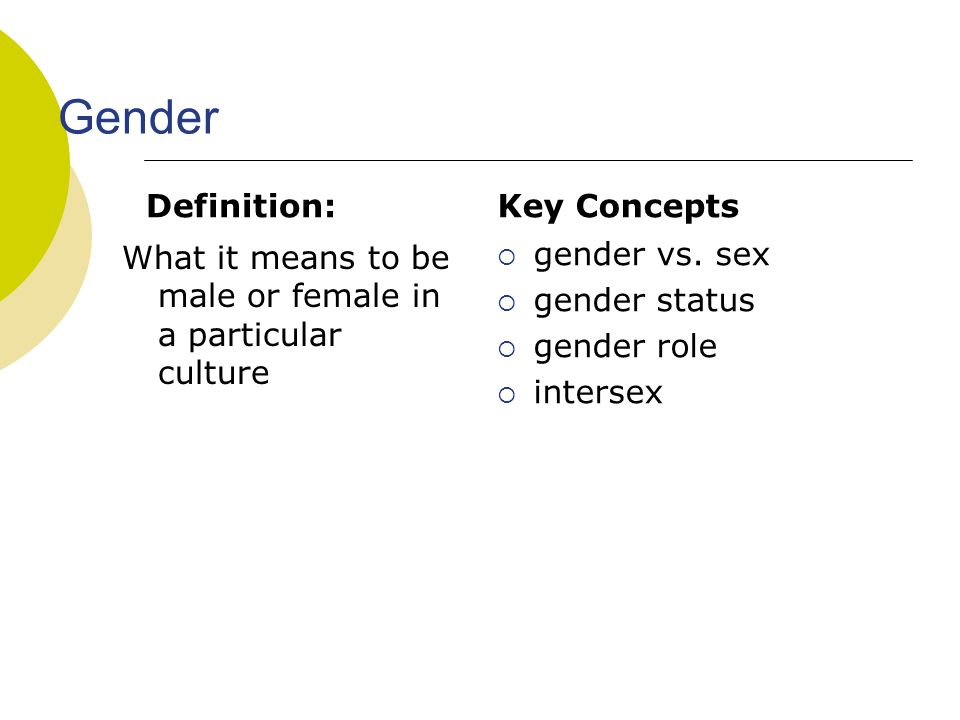 Anthropology of sex and gender lectures ppts