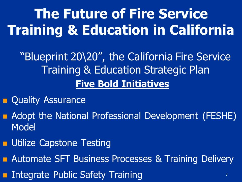 1 blueprint 2020 the future of fire service training education 7 7 malvernweather Image collections