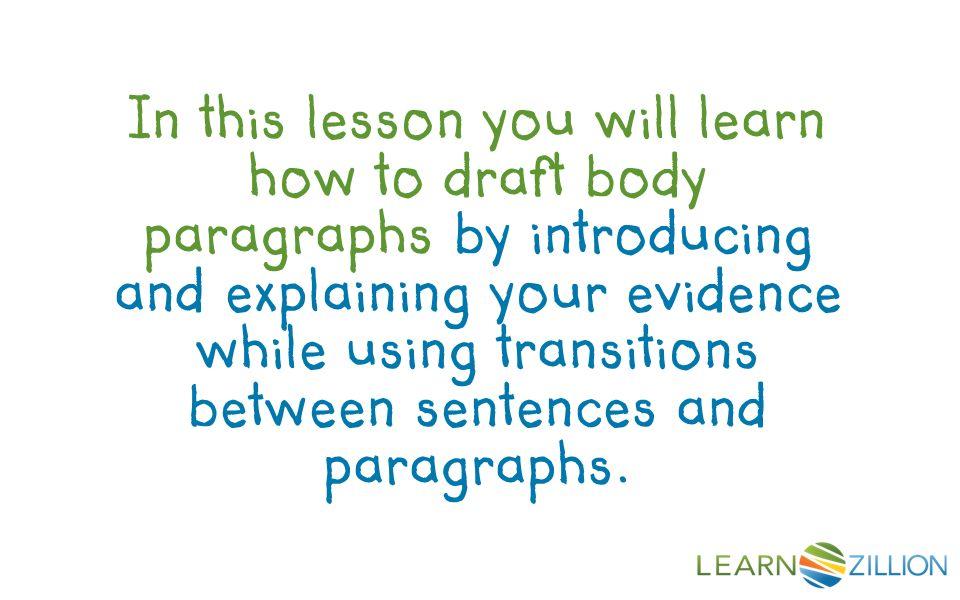 how to write a body paragraph for an argumentative essay