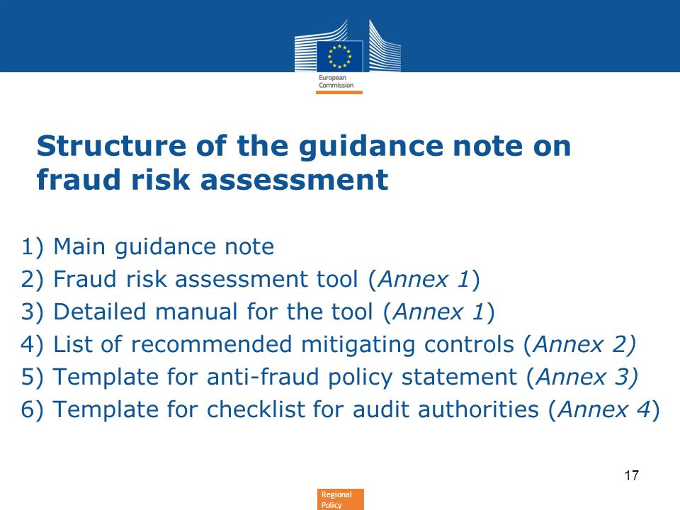 Regional policy fraud risk assessment and management article c cpr 17 regional policy structure of the guidance note on fraud risk assessment maxwellsz