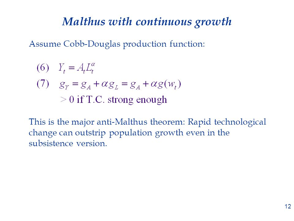what is the malthus theorem