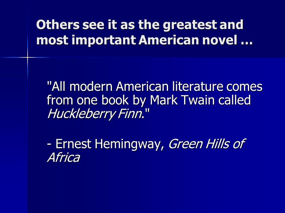 most important american literature