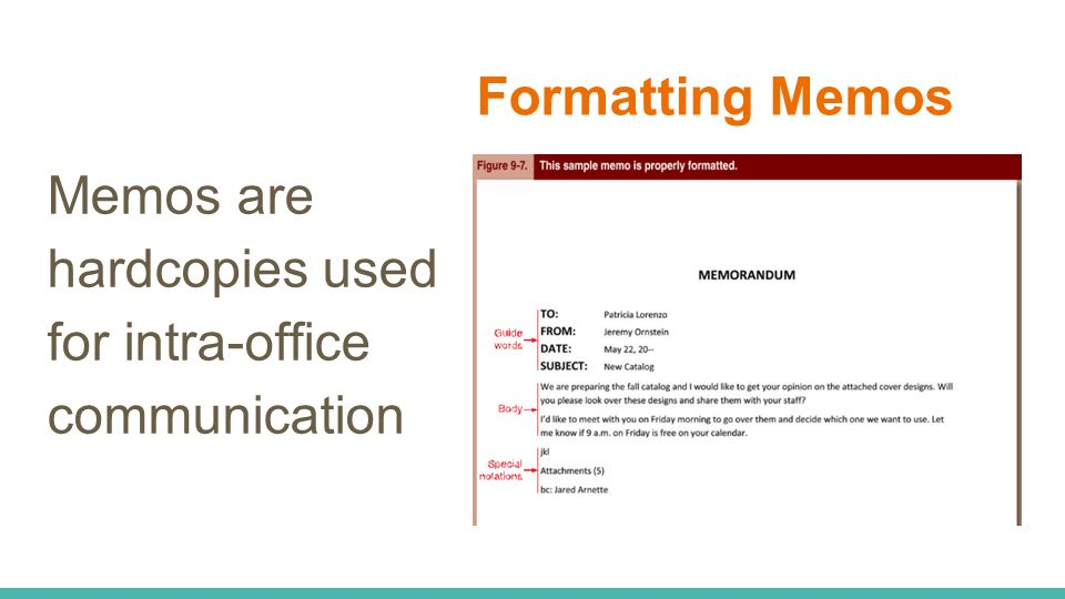 10 formatting memos memos are hardcopies used for intra office communication