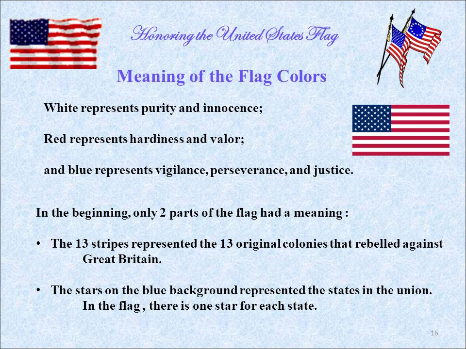 colors of the us flag represent