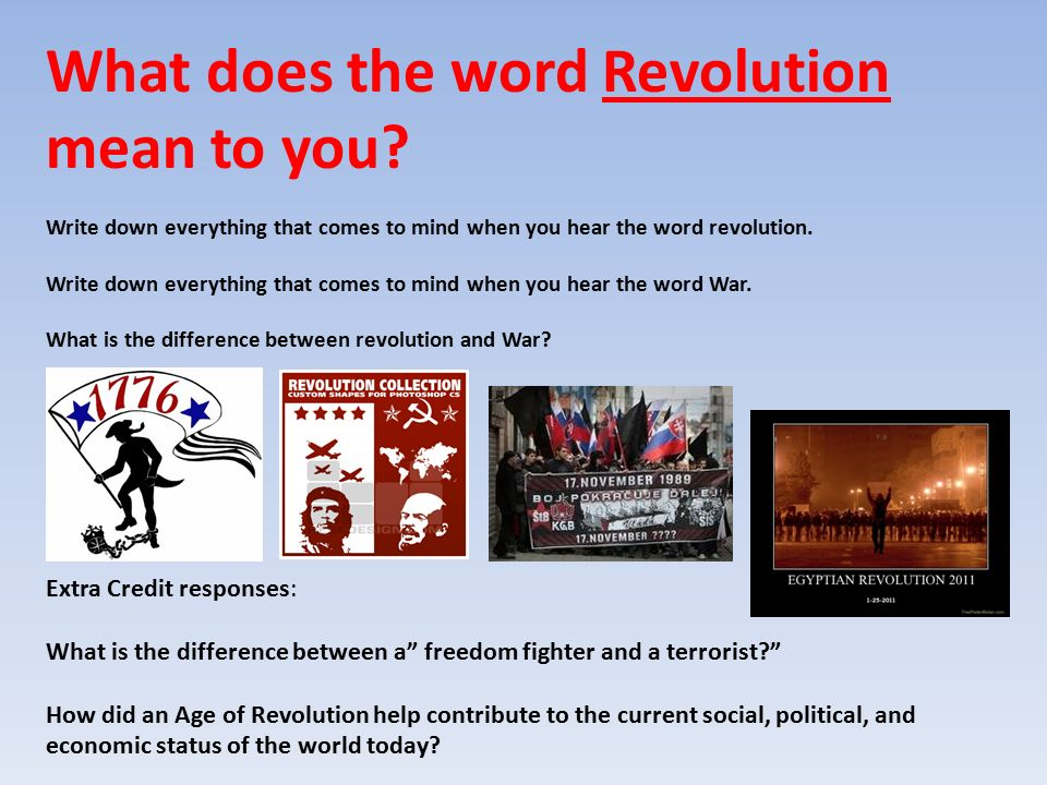 what does the word revolution mean
