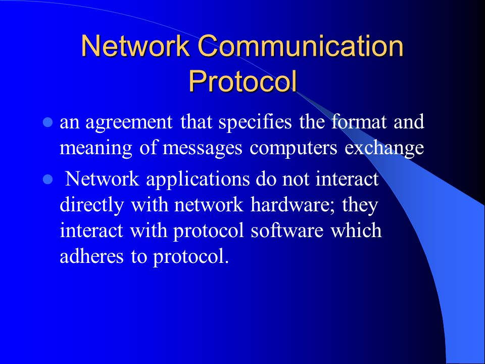 Chapter 16 Protocols And Layering Network Communication Protocol An