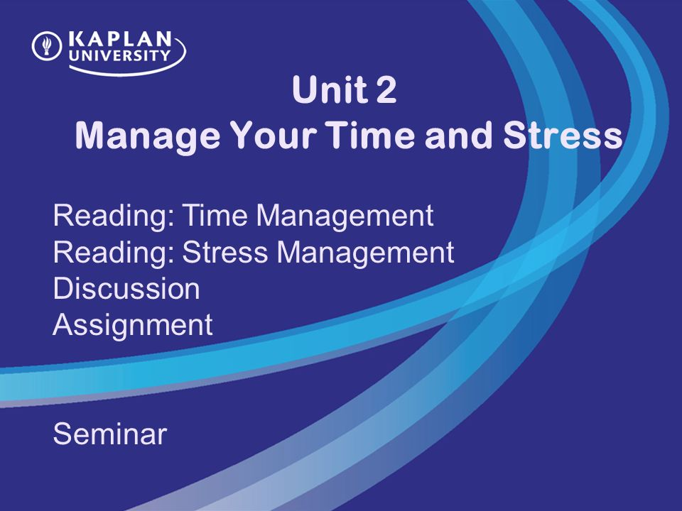 managing stress by managing your time essay Introduction stress is a common problem that affects almost all of us at some point in our lives learning to identify when you are under stress, what is stressing you, and different ways of coping with stress can greatly improve both your mental and physical well being.