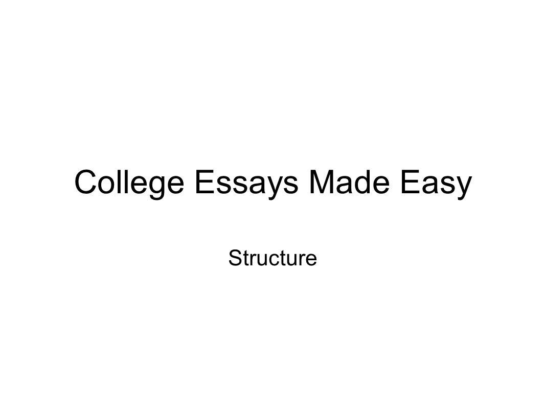 essays are easy